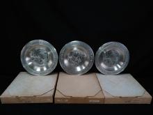 (3) Harley Davidso Ltd. Ed. Pewter Plates