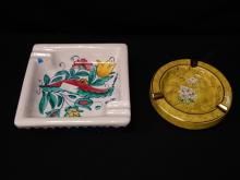 (2) Vintage Ashtrays, Italy, Numbered.