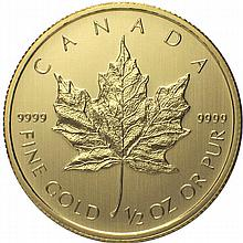 2014 1/2 oz Canadian Gold Maple Leaf (BU)