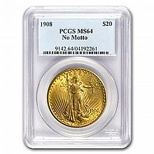 $20 Saint-Gaudens Gold Double Eagle - MS-64 PCGS