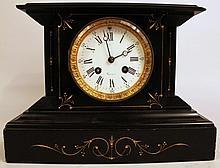 FRENCH EMPIRE DESIGN PILLAR CLOCK. 19th century.