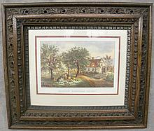 CA. 1890 GOLDEN OAK PICTURE FRAME WITH MOLDED