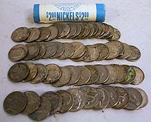 56 ROLL OF  NICKELS.