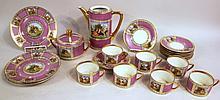 ROYAL VIENNA PORCELAIN COFFEE SET. Wateau pattern.