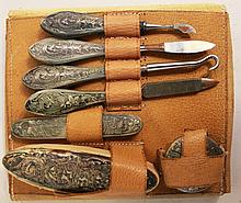 STERLING WEIGHTED HANDLE MANICURE SET. Including