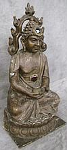 PAPIER MACHE FIGURE OF THE BUDDHA IN THE CLASSIC