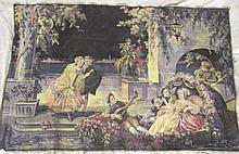 BELGIAN TAPESTRY. Ca. 1920. Classical romantic