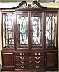 FINE THOMASVILLE CHIPPENDALE STYLE MAHOGANY DINING
