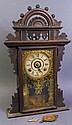 SETH THOMAS VICTORIAN WALNUT KITCHEN CLOCK. With