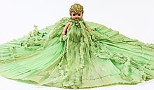 TWO PRE-1950 BABY DOLLS. Largest with hand painted