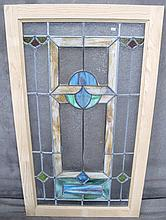 ARTS & CRAFTS LEADED AND STAINED GLASS