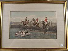 SET OF FOUR E.A.S. DOUGLASS HUNT PRINTS. Image is