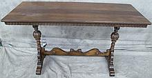 MAHOGANY DEPRESSION ERA SOFA TABLE. (Note: