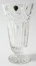 WATERFORD CRYSTAL SWAG DECOR CONICAL VASE. 9