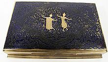 THAI BRONZE AND ENAMEL DESK BOX. With exotic