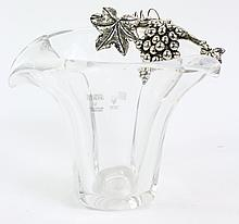 MARIA CHRISTINA CRYSTAL WINE COOLER. Mounted with