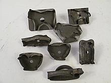 EIGHT EARLY TIN COOKIE CUTTERS. Including barnyard