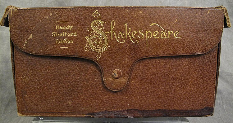 FINE CASED SET OF THE WORKS OF WILLIAM SHAKESPEARE.