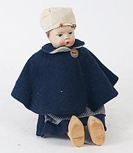 DUTCH NATIONALITY DOLL. Complete with wooden shoes