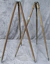 TWO EARLY SURVEYORS INSTRUMENT (TRANSIT, LEVEL,