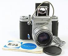 PRAKTISIX SLR CAMERA. With range finder for 2 1/4