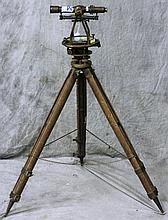 LAND SURVEYOR'S TRANSIT. With tripod and fitted