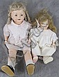 TWO LARGE VINTAGE EFFANBEE DOLLS.  Including one with original metal heart tag a