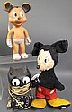 GUND MICKEY MOUSE. Together with a rubber Mickey