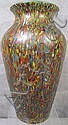 CZECH. END OF THE DAY ART GLASS VASE.  Ca. 1920's.  10