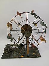 HOME HANDYMAN BUILT FERRIS WHEEL. All parts hand