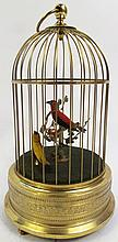 GERMAN MECHANICAL SINGING BIRDS IN A CAGE. 2ND 1/2