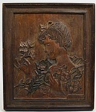 RELIEF CARVED SOFTWOOD PANEL OF A