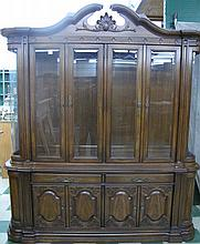 CONTINENTAL STYLE MAHOGANY BREAKFRONT CHINA
