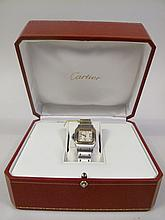 CARTIER LADY'S STAINLESS STEEL WRISTWATCH. 2423.