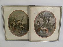 TWO VINTAGE FRAMED FRENCH PRINTS. 16