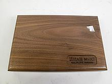 A BEAR MGC. WILDLIFE SERIES FOLD UP COLLECTIBLE KNIFE in a walnut case. 270/1200