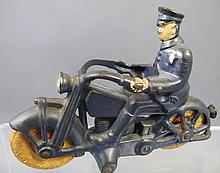 ARCADE HUBLEY? CAST IRON POLICEMAN ON MOTORCYCLE.  7