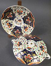 ROYAL CROWN DERBY PORCELAIN COVERED SMALL SERVICE DISH.  Duesbury mark, 1784-1820.  7 1/2