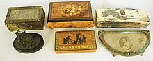 COLLECTION OF DRESSER BOXES AND ACCESSORIES.  Including a trophy box for the 195