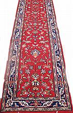 PERSIAN TABRIZ DESIGN ORIENTAL RUNNER. With deep,