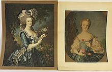 TWO MEZZOTINTS. Including
