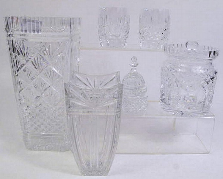 SIX PIECES OF WATERFORD CRYSTAL. Consisting of a