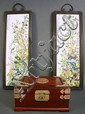 TWO FRAMED CHINESE PORCELAIN PLAQUES. Together
