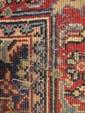 PERSIAN SAROUK SMALL RUG.  35 1/4