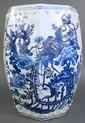 CHINESE OCTAGONAL PORCELAIN BLUE & WHITE GARDENT