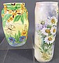 TWO CONTINENTAL PIECES OF HAND PAINTED POTTERY.