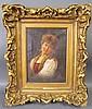ITALIAN SCHOOL. Oil. Portrait of a woman. 19th