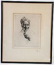 ATTRIBUTED TO HENRI LERCHIE. (B. 1868). Etching .