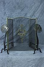 PAIR OF ENGRAVED BRASS