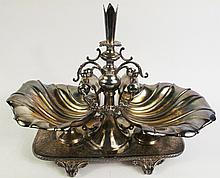 GREAT COMPLEX FORMAL VICTORIAN SILVER PLATE